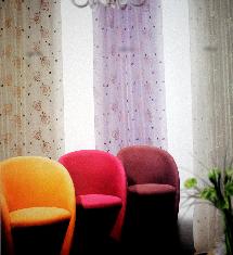 三色繽紛彩紗-窗簾布