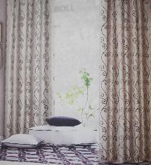 藝術線條二色-窗簾布