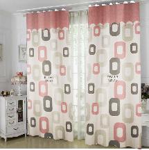 兩色居家粉紅-三明治遮光窗簾布137511-窗簾布