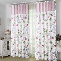 古典花紋1-三明治遮光窗簾布138769-窗簾布