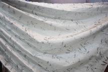 經典絲綢拓印秋葉-窗簾布