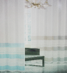 簡單海邊風情二色-窗簾布