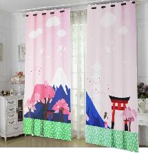 可愛日式風格-三明治遮光窗簾布110624-窗簾布