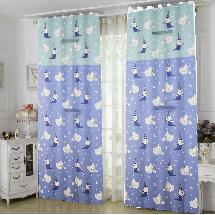 可愛魔法貓2-三明治遮光窗簾布179276-窗簾布