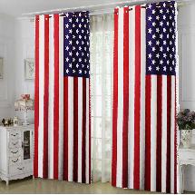 國旗圖案-三明治遮光窗簾布110456-窗簾布