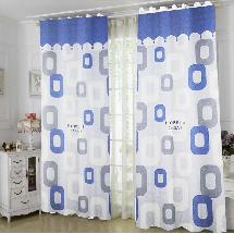 兩色居家粉藍-三明治遮光窗簾布137611-窗簾布