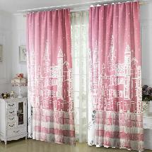 粉色都市-三明治遮光窗簾布324547-窗簾布