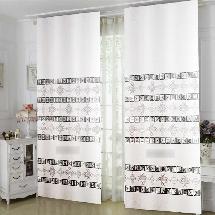 簡單黑白-三明治遮光窗簾布122435-窗簾布
