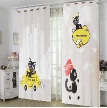 可愛貓咪-三明治遮光窗簾布121226-窗簾布