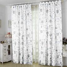 白色簡約百搭-三明治遮光窗簾布179876-窗簾布