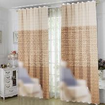 三色簡約花紋2-三明治遮光窗簾布315109-窗簾布
