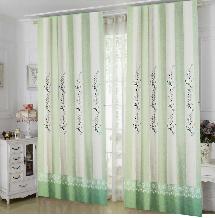 綠色清新簡約-三明治遮光窗簾布111454-窗簾布