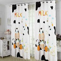 可愛圖案遮光窗簾布000192-窗簾布