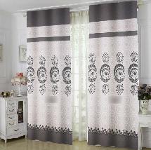 簡單黑白風-三明治遮光窗簾布131745-窗簾布