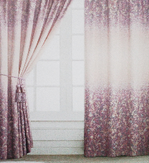居家時尚漸層紫-窗簾布