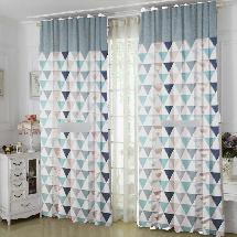 藍卡其色風-三明治遮光窗簾布138365-窗簾布
