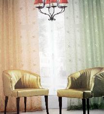 暖色調客廳二色-窗簾布