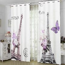 法國巴黎鐵塔-三明治遮光窗簾布121332-窗簾布