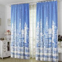 淺藍都市-三明治遮光窗簾布324607-窗簾布