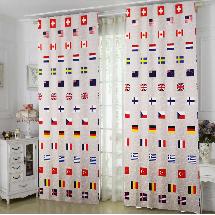 世界國旗2-三明治遮光窗簾布314053-窗簾布