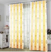 大氣黃白線條-三明治遮光窗簾布324707-窗簾布